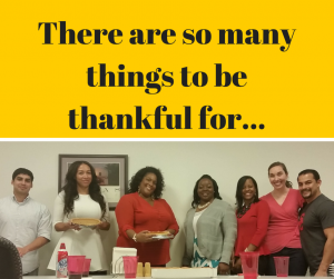TAD PGS Virginia team - Thanksgiving Potluck